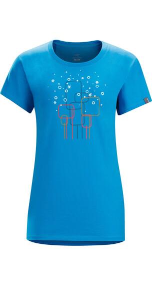 Arc'teryx W's Falling Snow SS T-Shirt Antilles Blue
